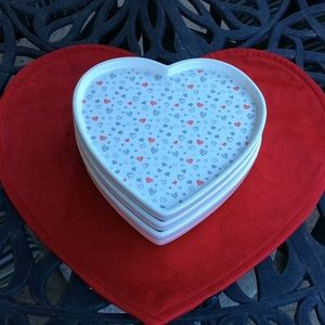 Heart Ceramic Dishes By Envogue     NWOT